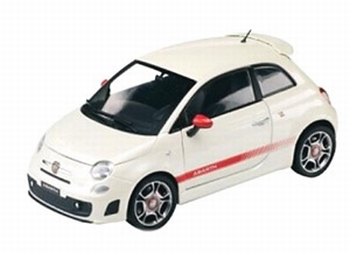 Abarth 500 Wit  White  1/43
