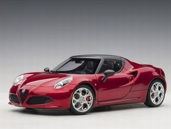Alfa Romeo 4 C Spider rood Competition red  1/18