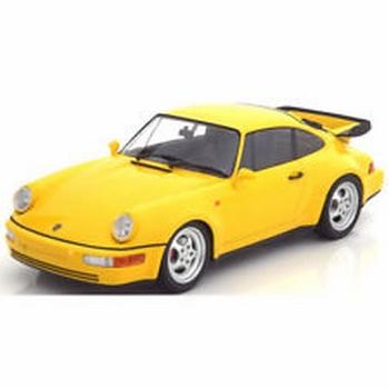 Porsche 911 Turbo ( 964 ) 1990 Geel Yellow  1/18