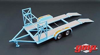 Auto aanhangwagen met banden rek -   Car trailer Gulf  1/43