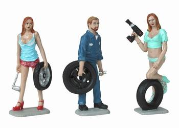 Banden - Tire brigade set #9 Meg Michele & Gery  1/24
