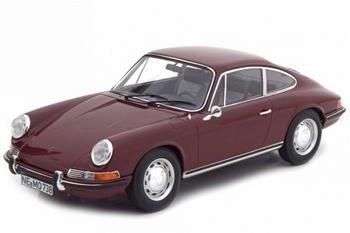 Porsche 911 T 1969 Donker Rood -  Dark Red  1/18