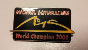 Pin Michael Schumacher World Champion 2000