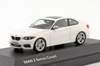 BMW 2 Series Coupe  wit  white 2014  1/43