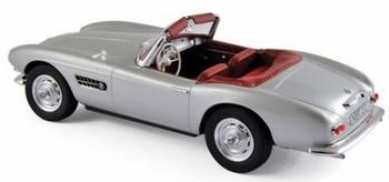 BMW 507 zilver 1956 Cabrio  1/18