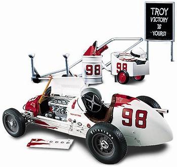 Agajanian special Troy Ruttman #98 + accessoires  1/16