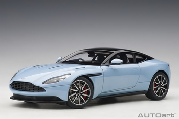 Aston Martin DB11 Blauw Q frosted glass Blue  1/18