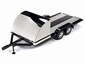 Auto aanhangwagen Car trailer Zwart chroom - Black Chrome  1/18