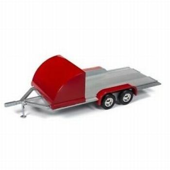 Auto aanhangwagen Car trailer Rood - Red  1/18