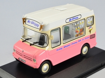 Bedford CF ice cream Mr Whippy Wit-rose  White-pink  1/43