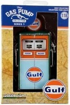 Benzinepomp - Gas pump Tokheim 1954 Twin Gulf Groen - Green  1/18