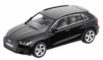 Audi A3 Sportback zwart - black  1/18