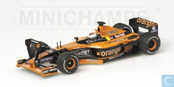 Asiatech A22 Orange Arrows F1 J,Verstappen Formule 1 2001  1/43