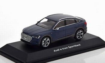 Audi E tron Sportback Blauw plasma blue  1/43