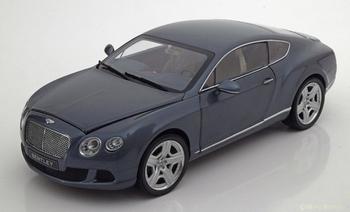 Bentley Continental GT 2011 Thunder Blauw grijs metallic  1/18