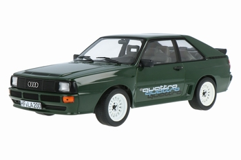 Audi Sport Quattro 1985 Groen - Green + quattro decals   1/18