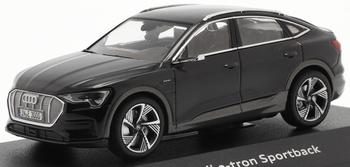 Audi E Tron sportback 2020 Zwart - black  1/43