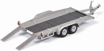 Autotransporter - Car trailer Zilver - Silver  1/43