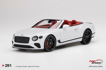 Bentley Continental GT Convertible Wit ice White  1/18