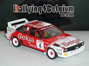 Audi  quattro  #4 Belga  Mar Duez - Willy Lux Ypres Rally 83  1/43