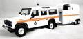 Land Rover Defender & Horsebox trailer aanhangwagen 1/43