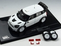 Mini cooper countryman JCW WRC Rally Specs + Extra wheels 1/43
