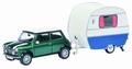Mini cooper + Caravan , Camper 1/43