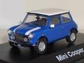 Mini cooper Blauw wit  1/43