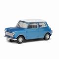 Morris Mini cooper Blauw wit  1/43