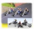 Easyrider  Shopper 3 modellen + figuur ( 3 figuren ) 1/87