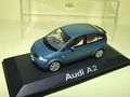 Audi A2 blauw blue 1/43