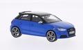 Audi S1 sportback Blue with Black roof Blauw met zwart dak 1/43
