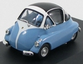 Bmw  Isetta Licht Blauw Wit - Light Blue /White 1954 1/43