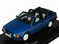Ford Escort lll Cabriolet 1983  Blue metallic Blauw 1/43