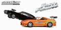 Fast and Furious set Dodge Charger & Toyota Supra 1/43