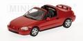 Honda CR-X del Sol Red  Rood  Cabrio 1/43