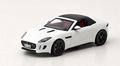 Jaguar  F Type S V 8  Wit White+ Soft Top  Black Zwart 1/43