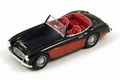 Austin Healey A100/6 1957 Red Black  Rood Zwart 1/43