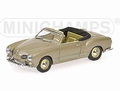 VW Volkswagen Karmann Ghia Cabriolet 1957 Metallic Grey 1/43