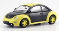 VW Volkswagen New Beetle Black Yellow Zwart geel 1/43