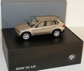 BMW X5 4,8 i Champagne metallic Brown Bruin 1/43