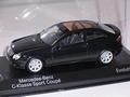 Mercedes C - Classe sport coupe Black Zwart 1/43