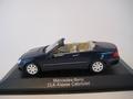 Mercedes Benz CLK Klasse  Cabriolet Blue  Blauw 1/43