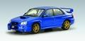 Subaru Impreza WRX STi Blauw Blue2003 1/43