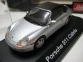 Porsche 911 Cabrio silver Zilver + soft top 1/43