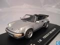 Porsche 911 Turbo Cabrio  1986 Zilver Silver  1/43