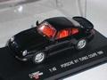 Porsche 911 Turbo coupe 1995 Black Zwart 1/43