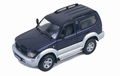 Toyota Land Cruiser Short Dark Blue Silver 1998 1/43