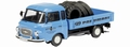 Barkas B 1000 Blue Blauw + Banden Tyres 1/43