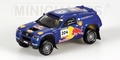VW Volkswagen Touareg Paris Dakar 2004 #204 Red Bull 1/43